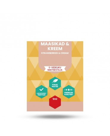 E-vedeliku maitsestaja Vapista 1ml Maasikad & kreem