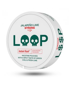 SNUS nikotiinipadjad LOOP Jalapeno Lime Strong 15mg/g