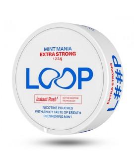 SNUS nikotiinipadjad LOOP Mint Mania Extra Strong 20mg/g